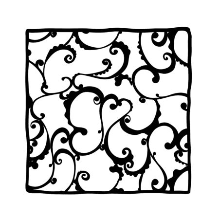 illustration. Black and white lace tracery