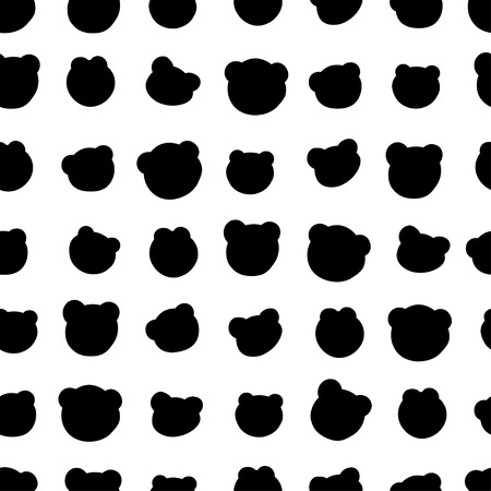 illustration. Seamless pattern with silhouette of a bear Vectores