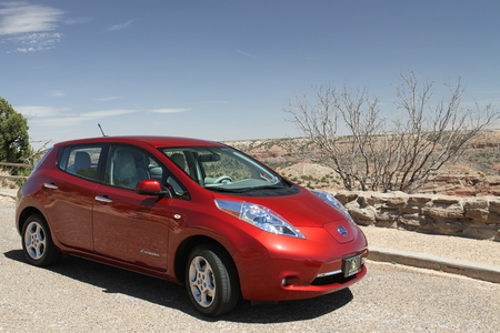 duro: Nissan Leaf at Palo Duro Canyon, Texas