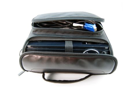 lugage: Bag with cable Stock Photo