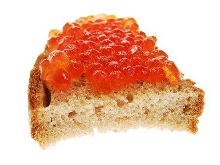 Sandwiche with caviar photo