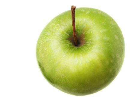 Green Apple on white photo