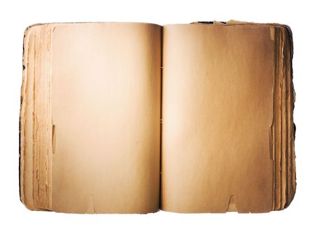 Blank old Book isolated on white background  photo