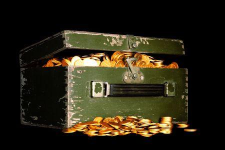 chest full of money Stock Photo - 3319844