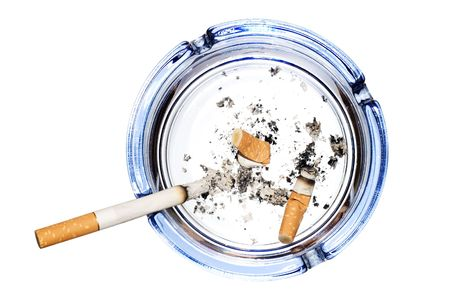 Cigarettes isolated on white photo