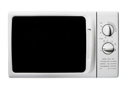 microwave oven: horno de microondas aisladas en blanco