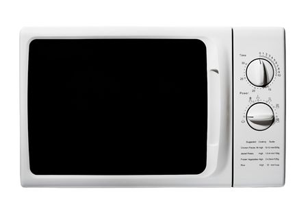 defrost: microwave oven isolated on a white