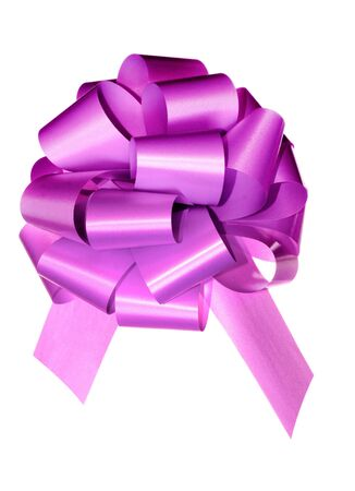 violet bow isolated on white background Stock Photo - 3347669