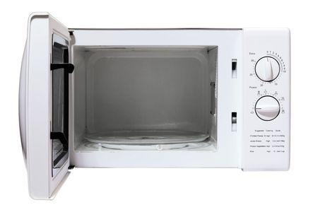 microwave oven: horno microondas aislados sobre un fondo blanco