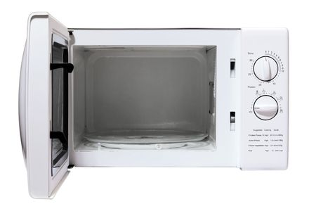 defrost: microwave oven isolated on a white background