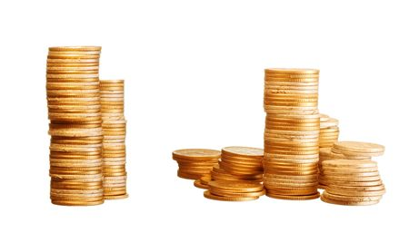 tough luck: gold coins Stock Photo