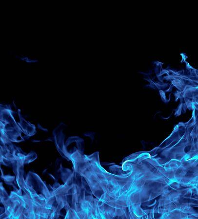 fuego azul: perfecto fuego de antecedentes 3 Foto de archivo