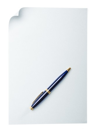 paper page curl and pen Stock Photo - 4007502