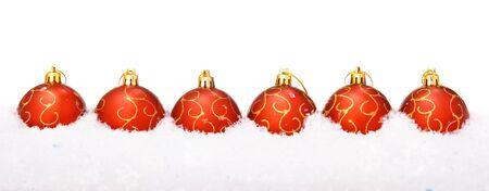 Christmas balls with snow Stock Photo - 4007582