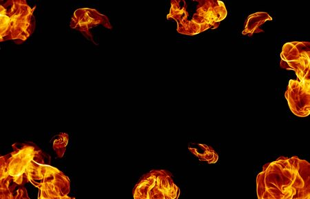 Fire Balls Frame Stock Photo - 4095868