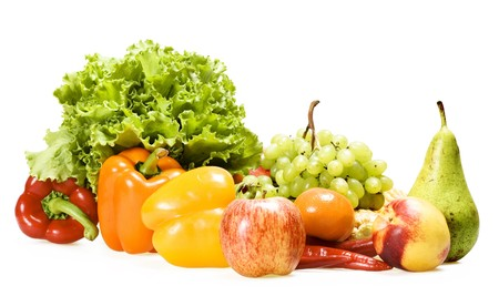 sweet peppers: fruits and vegetables Stock Photo