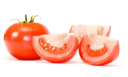 pomidory: Pomidory wyizolowanych na białym tle. Zdjęcie Seryjne