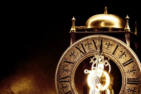 Antique clock close up photo