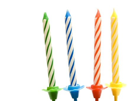 birthday candles isolated on the white background Stock Photo - 4206375