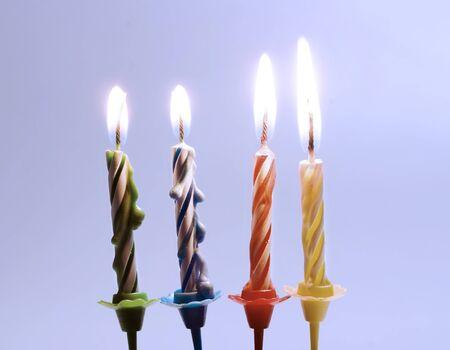 candeline compleanno: candele di compleanno Archivio Fotografico