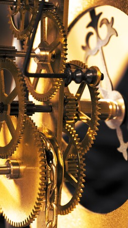 winder: Antique clock close up