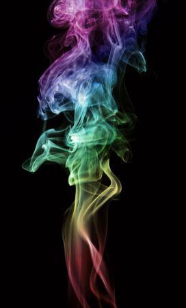 Smoke isolated on black background. photo