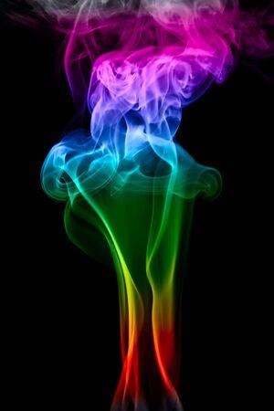 smoke isolated on black background photo