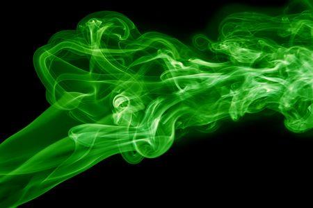 green smoke: Green smoke Stock Photo