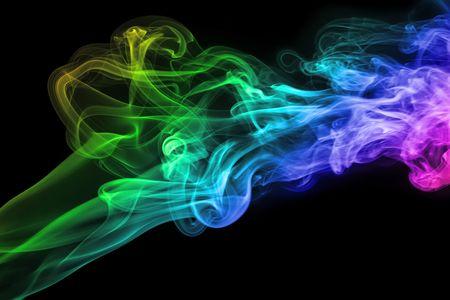 Color smoke photo