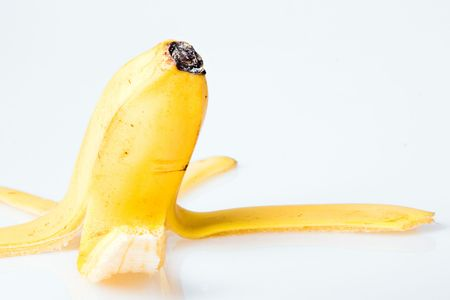 Peel of banana photo