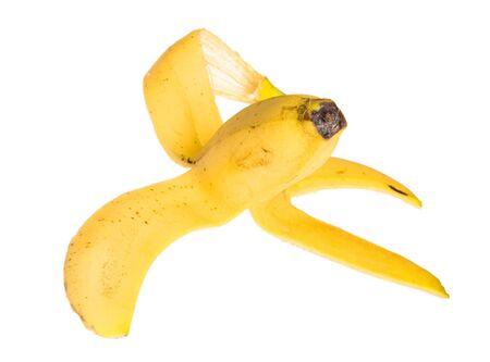 Éplucher la banane Banque d'images