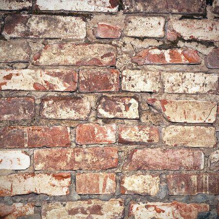 mattoncini: background muro di mattoni vecchi