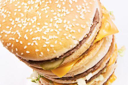 Cheeseburger isolated on white background. Stock Photo - 5255170