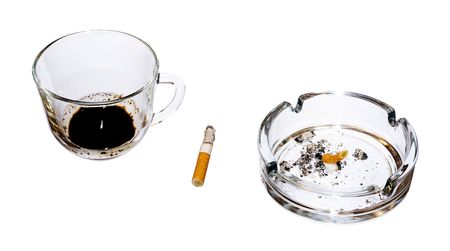 Cigarette Isolated on White Background photo