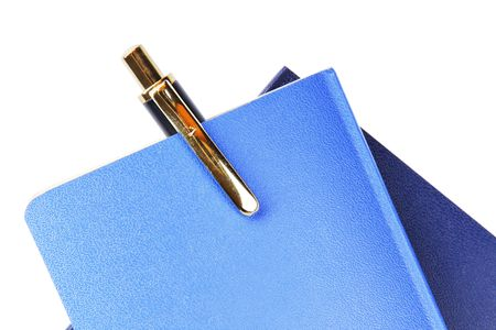 notebook and pensil on white (popular notebook with yellow paper) Stock Photo - 5389057