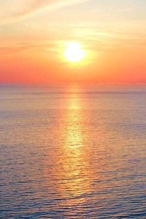 sunset over black sea scene