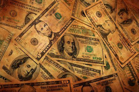 burned:  Grunge Money Background