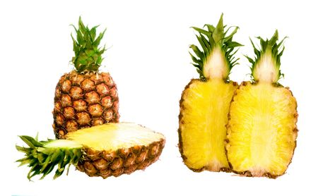 pineapple slice: Pineapple isolated on white background.