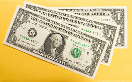 american currency: american dollar close up background Stock Photo
