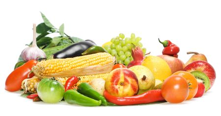 Healthy Eating, isolated on white background. Stock Photo - 5388993