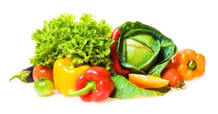 Healthy Eating, isolated on white background. Stock Photo - 5388934
