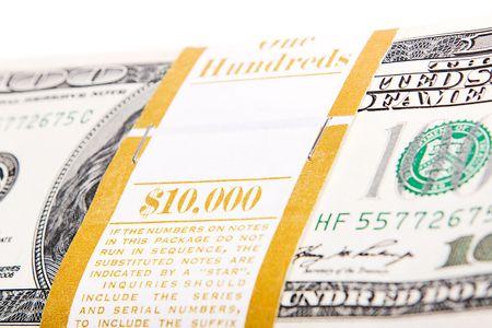 money isolated on white background photo