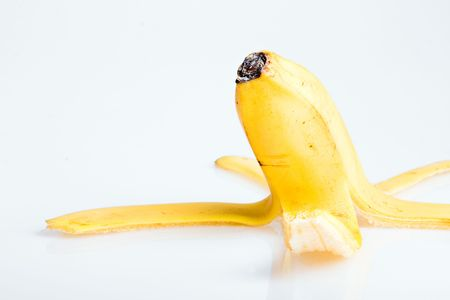 Peel of banana close up. photo