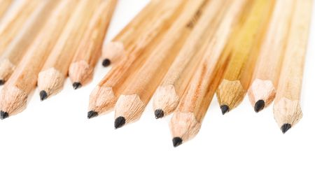 insipid: Pencils isolated on white