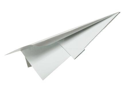 papierflugzeug: Papier Flugzeug auf wei�.