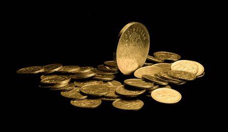 monedas antiguas: Dinero, monedas Foto de archivo