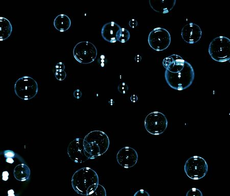 soap bubbles on black Stock Photo - 5484959