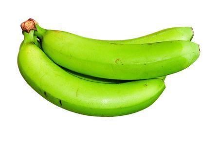 unripe: unripe green bananas