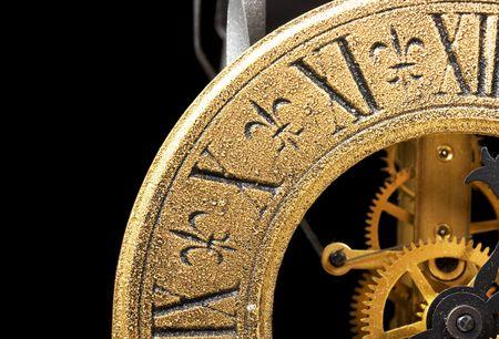 numeros romanos: Reloj antiguo Cerrar vista Foto de archivo