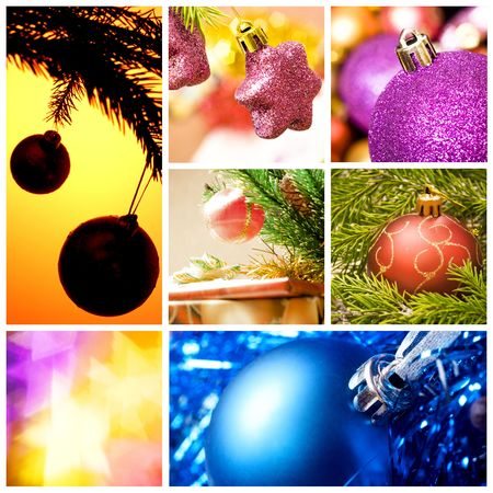 collage of various christmas decorations Stock Photo - 5530453